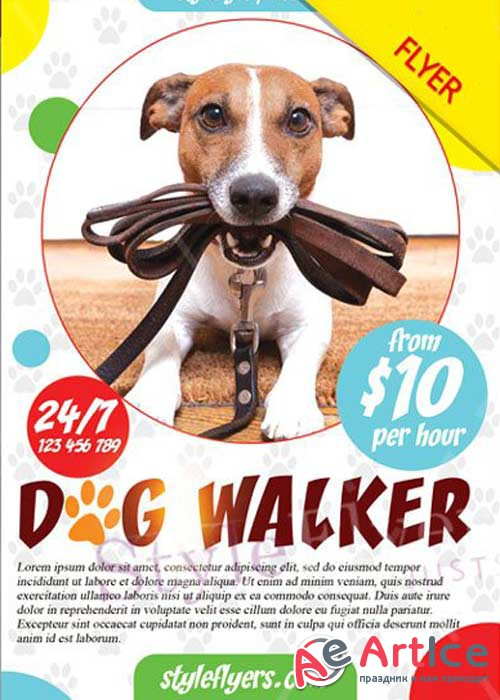 Dog Walker V7 PSD Flyer Template