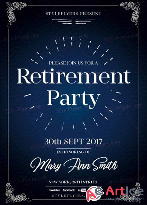 Retirement V14 PSD Flyer Template