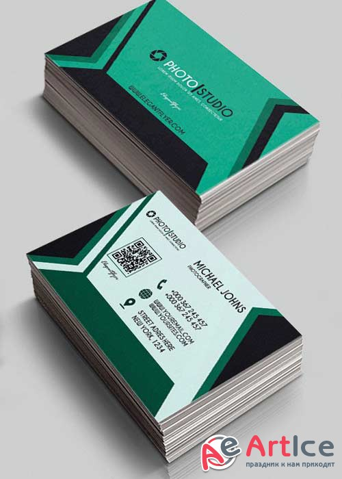 Photo Studio V3 Premium Business Card Templates PSD