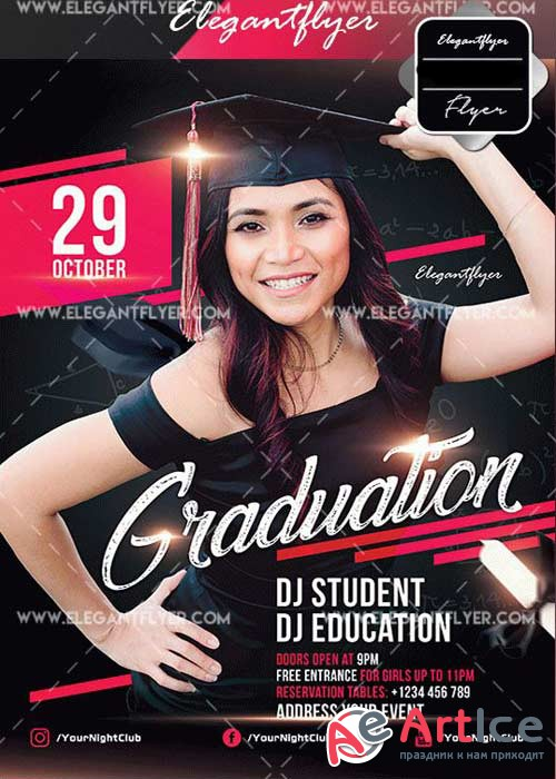 Graduation Flyer V9 Template