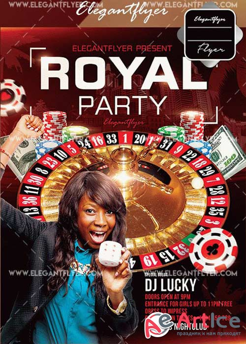 Royal Party Flyer V21 Template