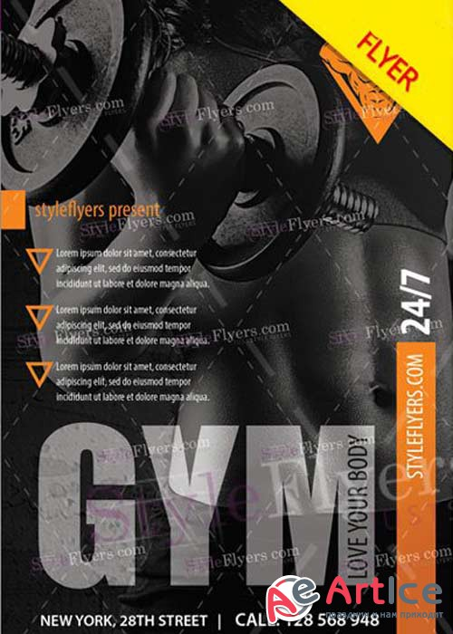 GYM V24 PSD Flyer Template