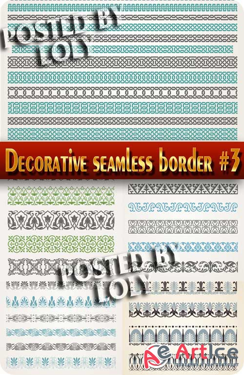 Decorative seamless border #3 - Stock Vector