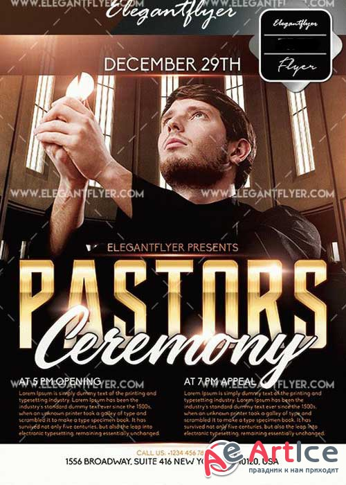 Pastors Ceremony V26 Flyer Template