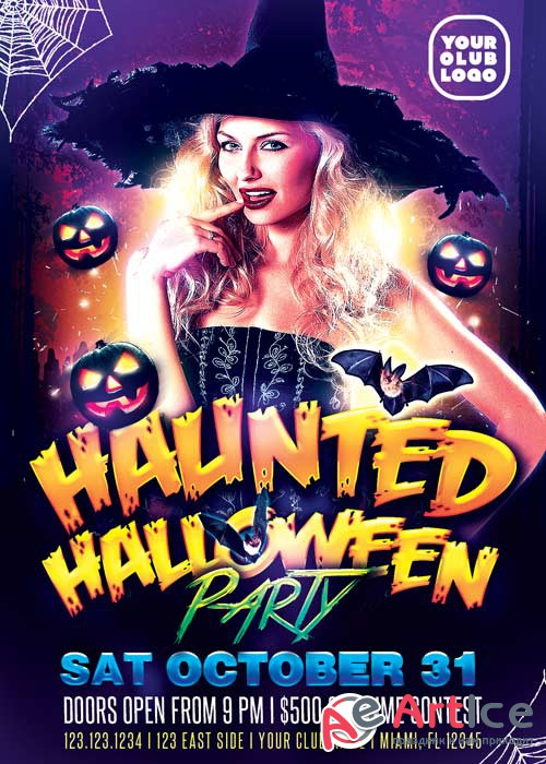 Haunted Halloween V3 2017 Flyer Template