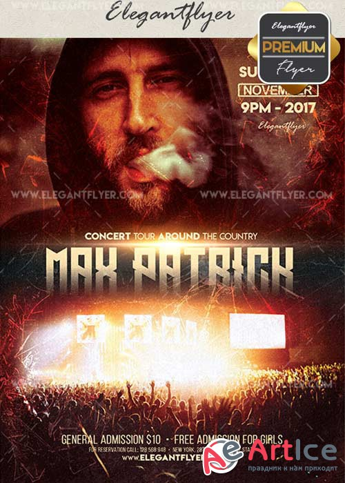 Concert V40 Flyer PSD Template + Facebook Cover