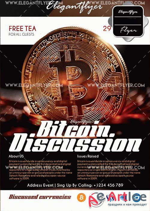 Bitcoin Discussion V1 Flyer Template