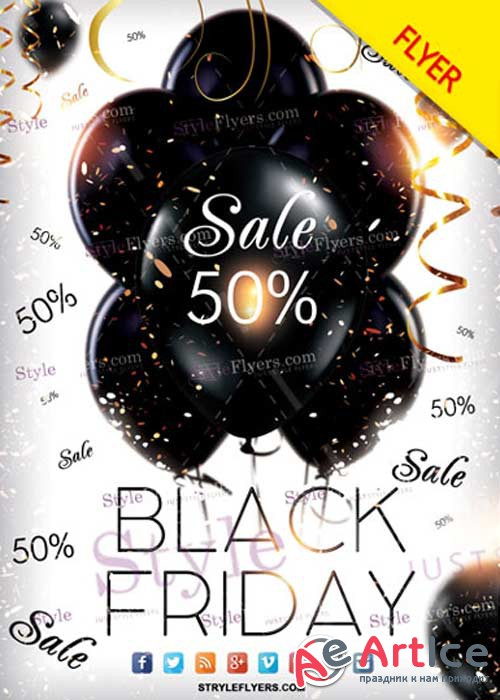 Black Friday V12 PSD Flyer Template
