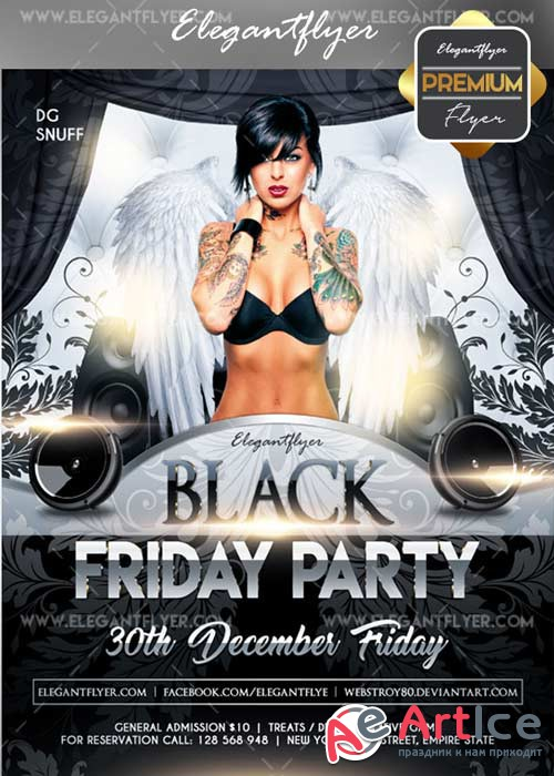 Black friday 2017 V02 Flyer PSD Template + Facebook Cover