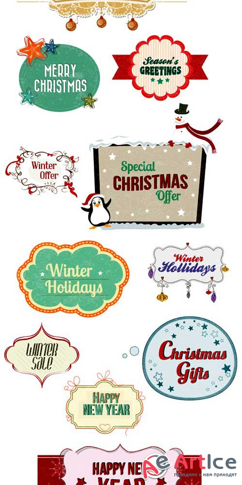 Christmas vector frames - Stock Vector