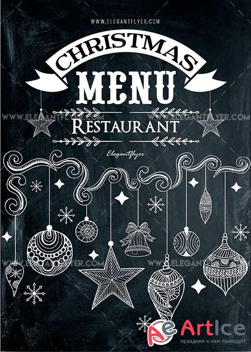 Christmas Menu Restaurant V7 2018 PSD Template