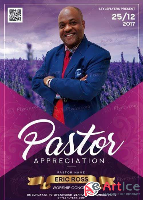 Pastor Appreciation V39 PSD Flyer Template