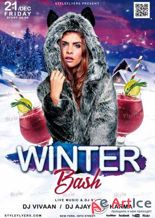 Winter Bash V8 2017 PSD Flyer Template