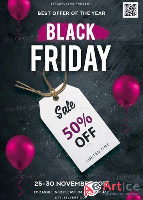 Black Friday V31 2017 PSD Flyer Template