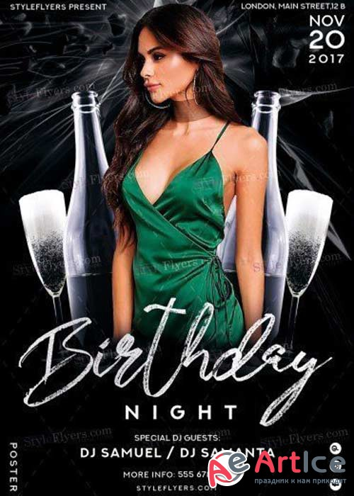 Birthday V28 2017 PSD Flyer Template