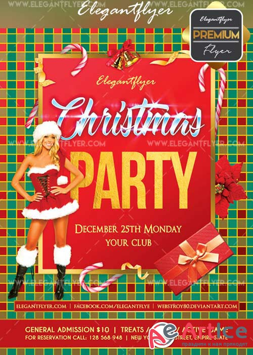 Christmas 2018 V15 Flyer PSD Template + Facebook Cover