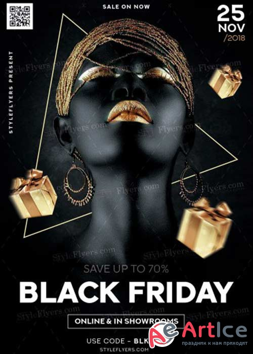 Black Friday Sale V32 PSD Flyer Template