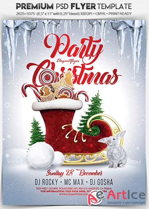 Christmas Party 2017 V47 Flyer PSD Template + Facebook Cover