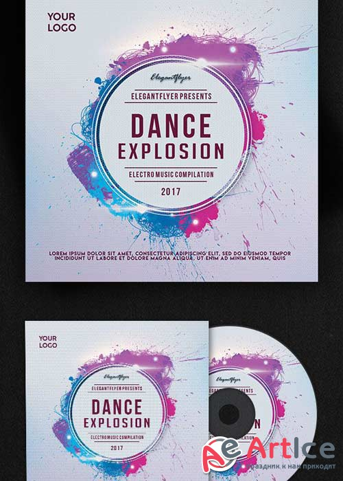 Dance Explosion V1 Premium CD Cover PSD Template