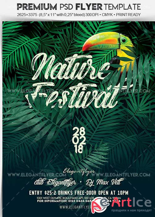 Nature Festival V5 Flyer PSD Template + Facebook Cover