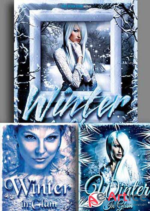 Winter Party Flyer 3in1 V2 Template