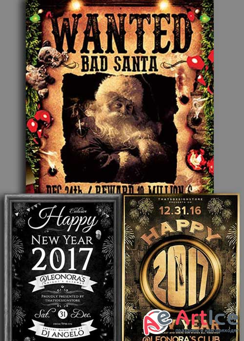 Christmas Flyer V12 3in1 Flyer Template