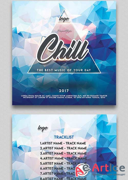 Chill V1 2018 Premium CD Cover PSD Template