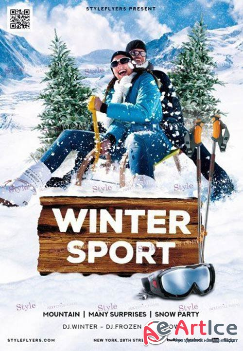 Winter Sport V3 2018 Flyer PSD Template