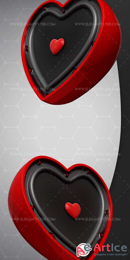 Musical Heart V1 2018 3d Render Templates
