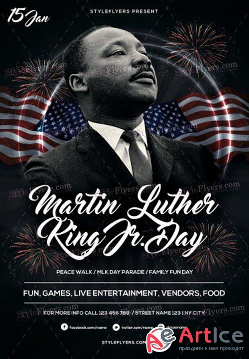 Martin Luther King V1 2018 PSD Flyer Template