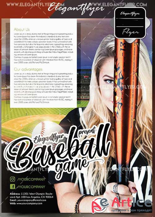 Baseball V5 2018 Flyer Template