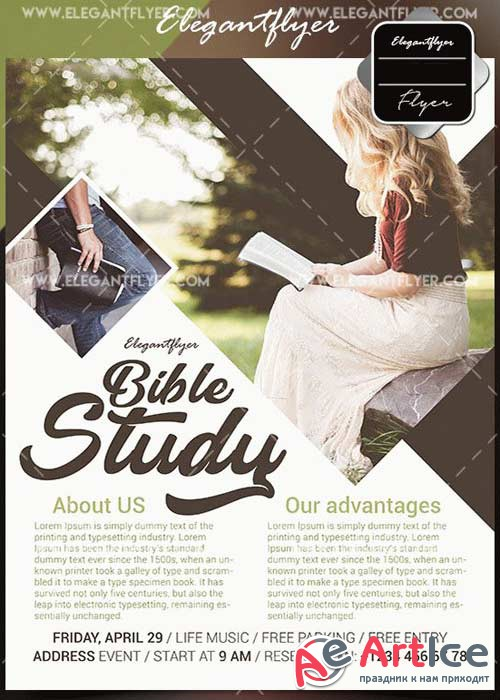Bible Study V1 2018 Flyer Template