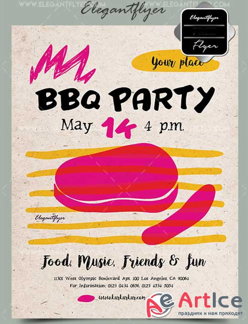 BBQ Party V6 2018 Flyer PSD Template + Facebook Cover