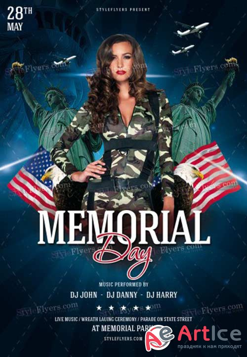 Memorial Day V10 2018 PSD Flyer Template