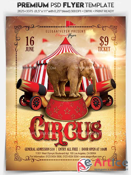 Circus V1 2018 Flyer PSD Template