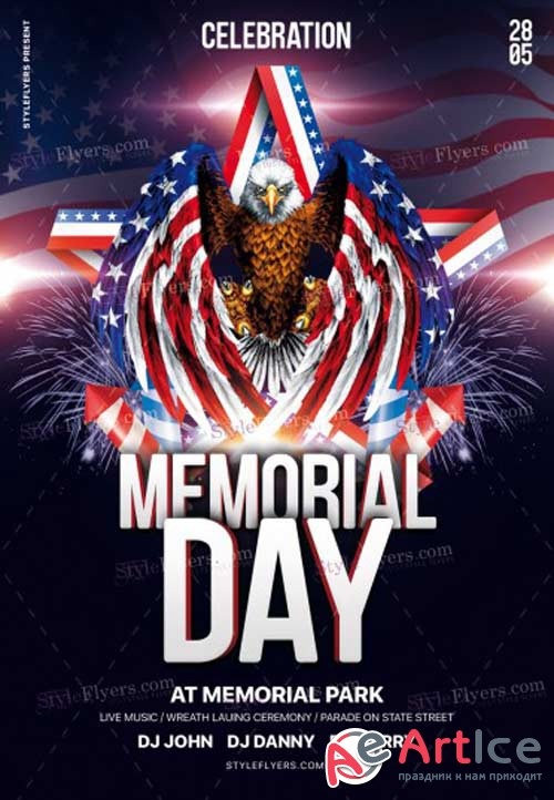 Memorial Day V20 2018 PSD Flyer Template