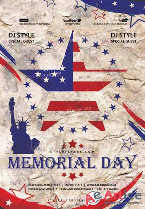 Memorial Day V19 2018 PSD Flyer Template