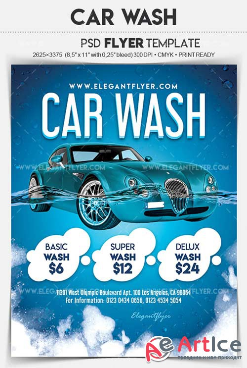 Car Wash V5 2018 Flyer PSD Template