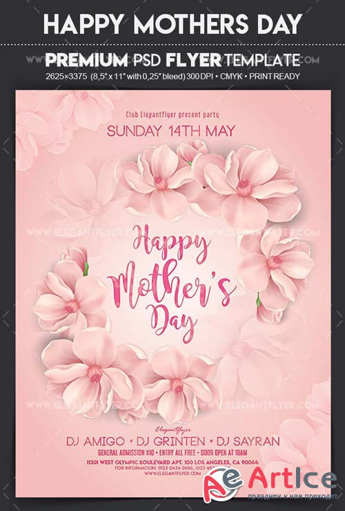 Happy Mother's Day V24 2018 Flyer PSD Template