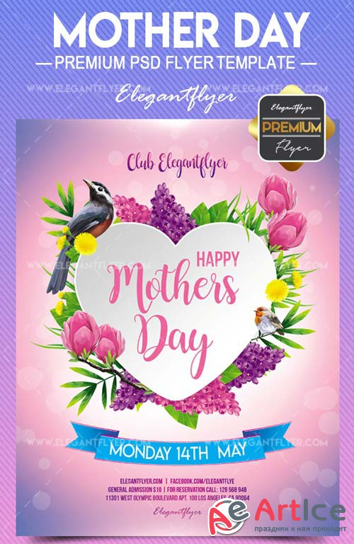 Mother Day V23 2018 Flyer PSD Template