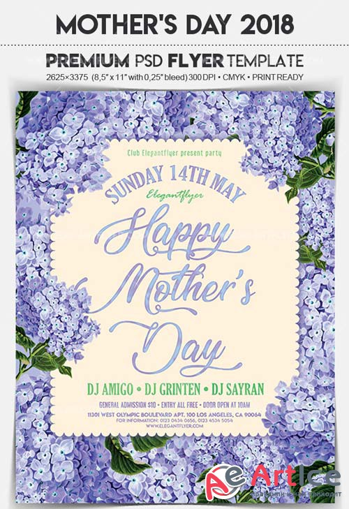 Mother's Day 2018 V21 Flyer PSD Template