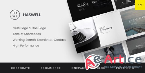ThemeForest - Haswell v1.9.2 - Multipurpose One Multi Page Template - 12087194