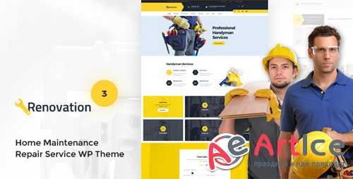 ThemeForest - Renovation v3.5.3 - Home Maintenance, Repair Service Theme - 11444549