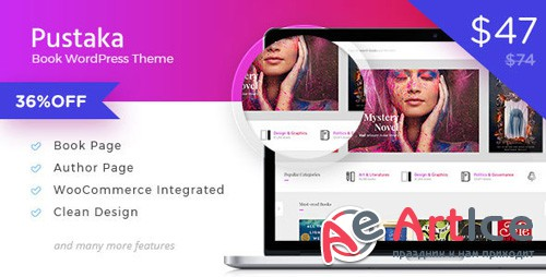 ThemeForest - Pustaka v2.9.4 - WooCommerce Theme For Book Store - 18632697