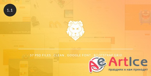 ThemeForest - The Lion v1.1 - Multi-Purpose PSD Template - 9525785