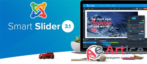 Smart Slider 3 Pro v3.3.1 - Slider For Joomla