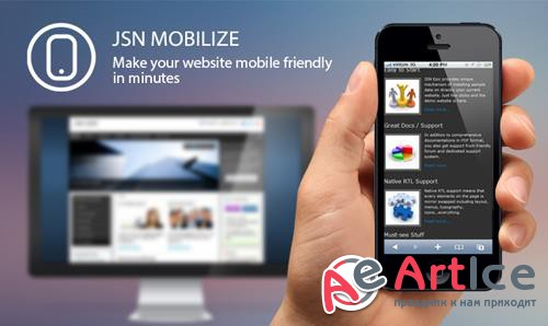 JoomlaShine - JSN Mobilize v1.3.1 - Easy-to-Use Joomla Mobilize Extension
