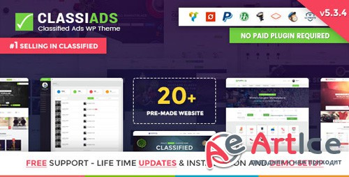 ThemeForest - Classiads v5.3.8 - Classified Ads WordPress Theme - 8625840