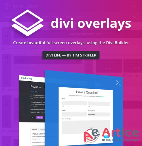 DiviLife - Divi Overlays v2.2 - Plugin For Divi Theme
