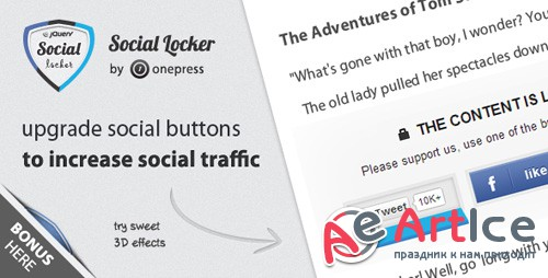 CodeCanyon - Social Locker for jQuery v2.3.1 - 3408941
